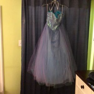 Prom dress strapless sequence top